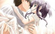 Anime Girl And Boy Kiss 11 Wide Wallpaper