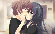 Anime Girl And Boy Kiss 2 Desktop Background