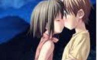 Anime Girl And Boy Kiss 22 Free Hd Wallpaper