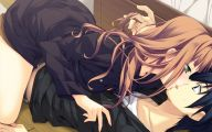 Anime Girl And Boy Kiss 31 Widescreen Wallpaper