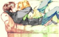 Anime Girl And Boy Kiss 34 Wide Wallpaper
