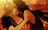 Anime Girl And Boy Kiss 4 High Resolution Wallpaper
