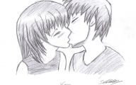 Anime Girl And Boy Kiss 5 Wide Wallpaper