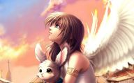 Anime Girl Angel 3 Wide Wallpaper