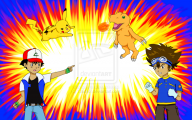 Digimon Vs Pokemon 3 High Resolution Wallpaper