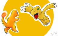 Digimon Vs Pokemon 8 Desktop Background