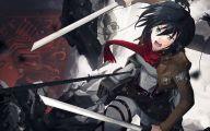 Mikasa Ackerman 17 Background Wallpaper