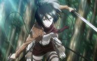 Mikasa Ackerman 42 Background Wallpaper