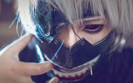 Tokyo Ghoul Ken Kaneki Mask 26 Background Wallpaper