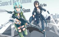 Sword Art Online Kirito And Sinon  29 Widescreen Wallpaper