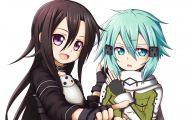 Sword Art Online Kirito And Sinon  31 Anime Background