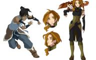 Legend Of Korra Characters 5 Desktop Background