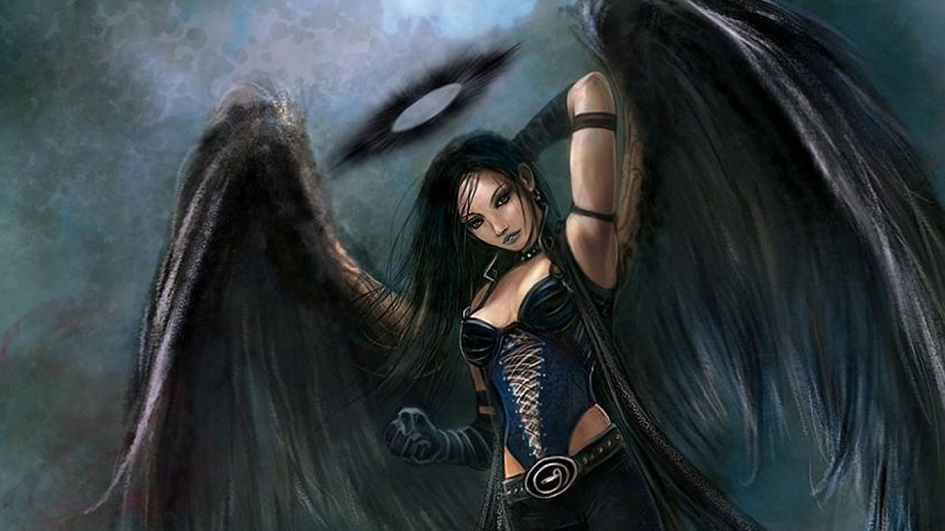 Anime Dark Angel Girl 10 Widescreen Wallpaper