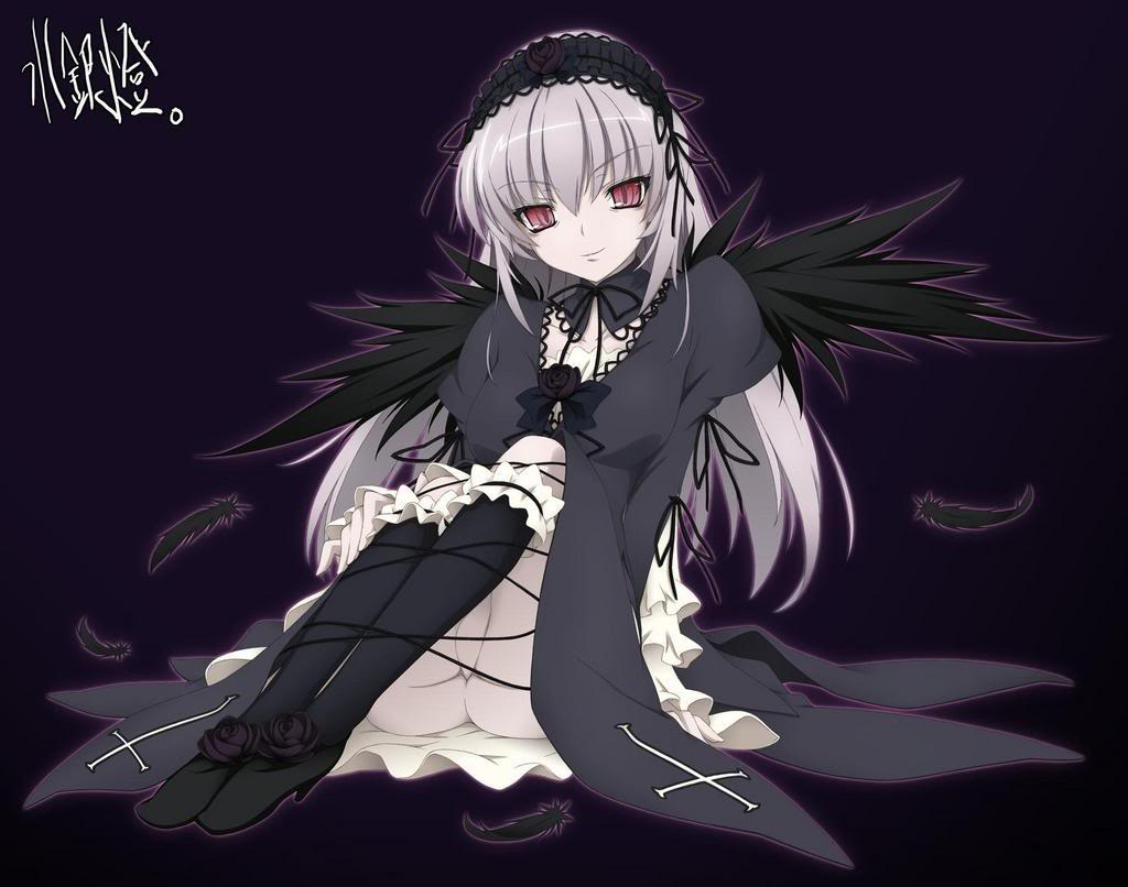 Anime Dark Angel Girl 21 Wide Wallpaper