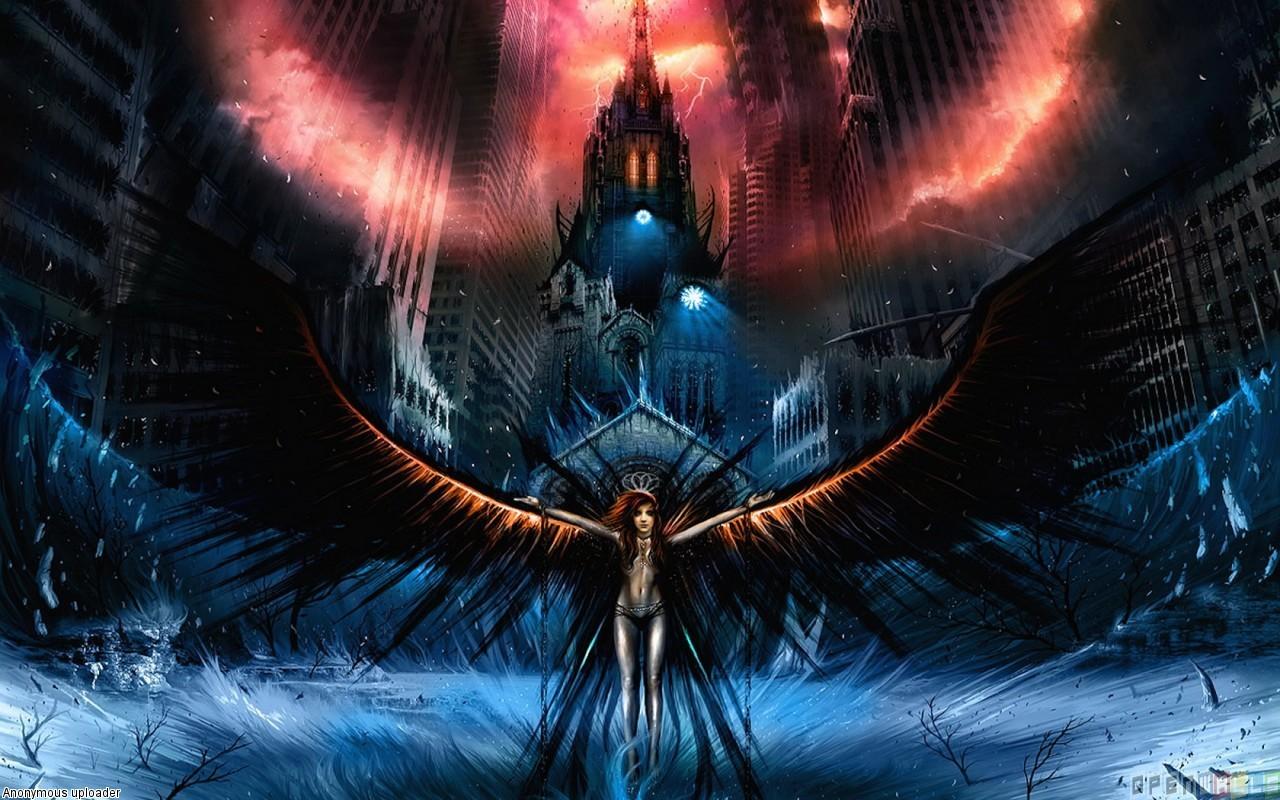 Anime Dark Angel Girl 23 Background Wallpaper