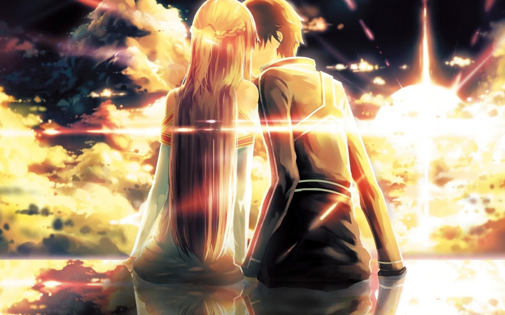 Anime Girl And Boy Kiss 36 Free Wallpaper