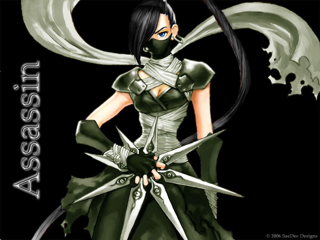 Anime girl assassin 21 free wallpaper