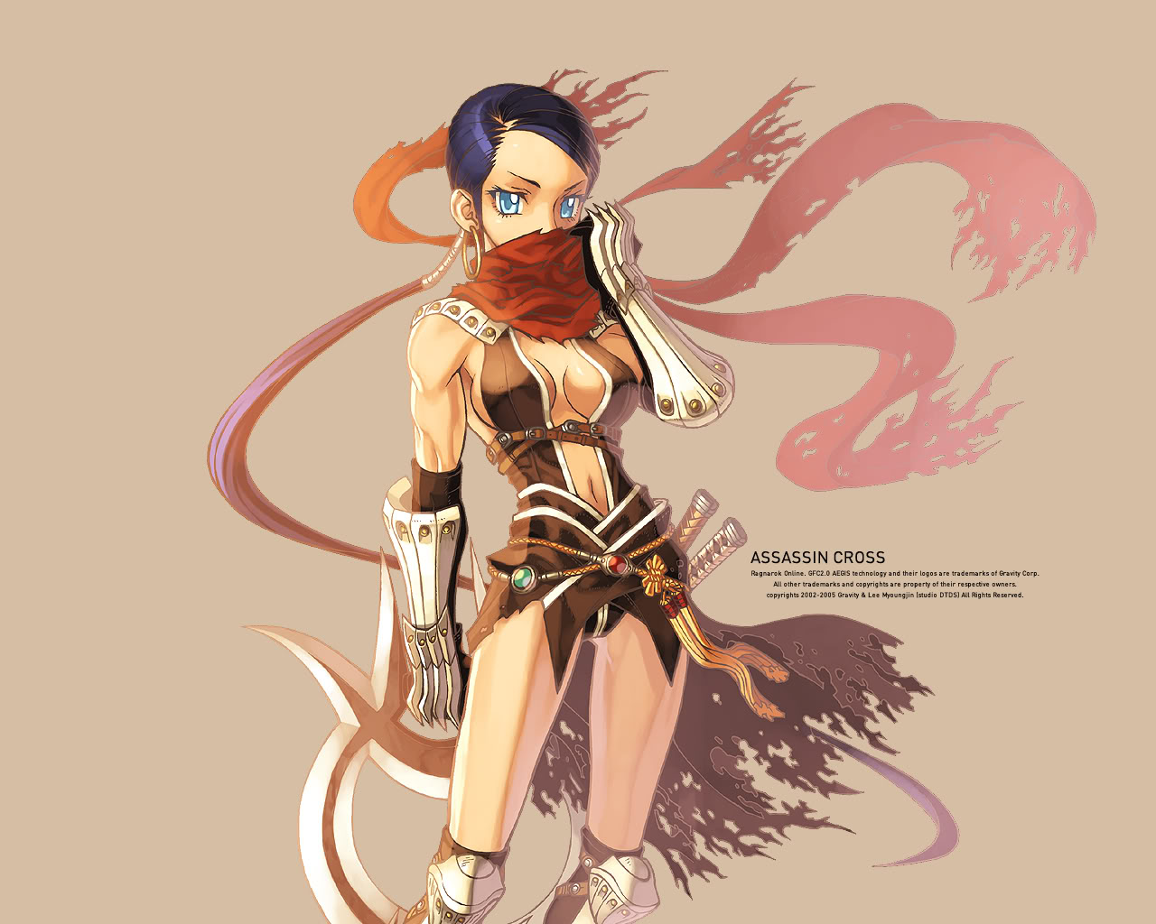 Anime Girl Assassin 9 Widescreen Wallpaper
