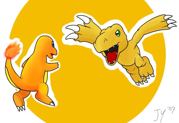 Digimon Vs Pokemon 8 Desktop Background