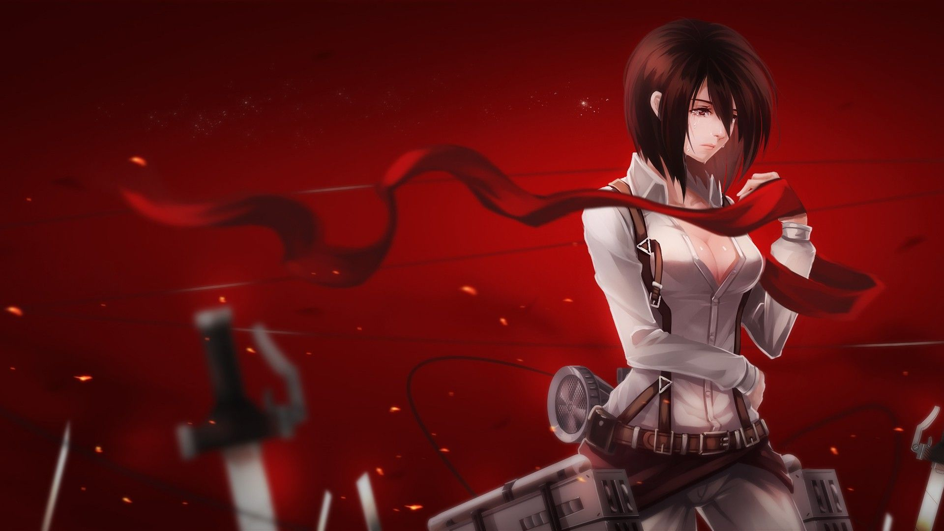 Mikasa Ackerman 21 Free Wallpaper