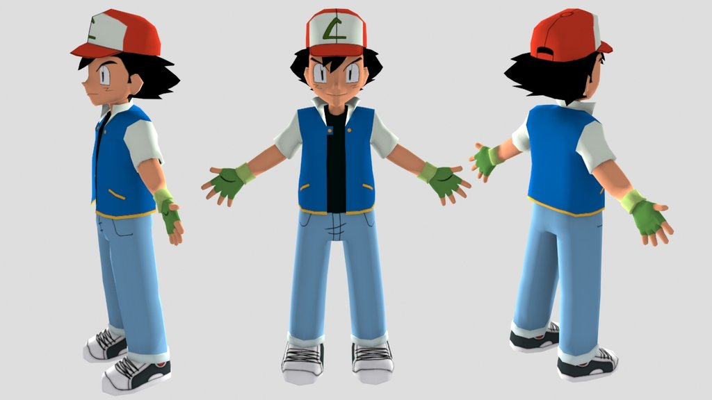 Ash Ketchum 40 Wide Wallpaper