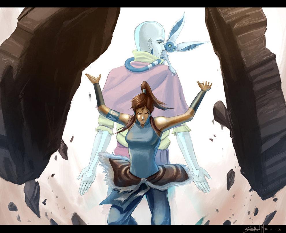 Avatar Aang Vs Avatar Korra  20 Background Wallpaper