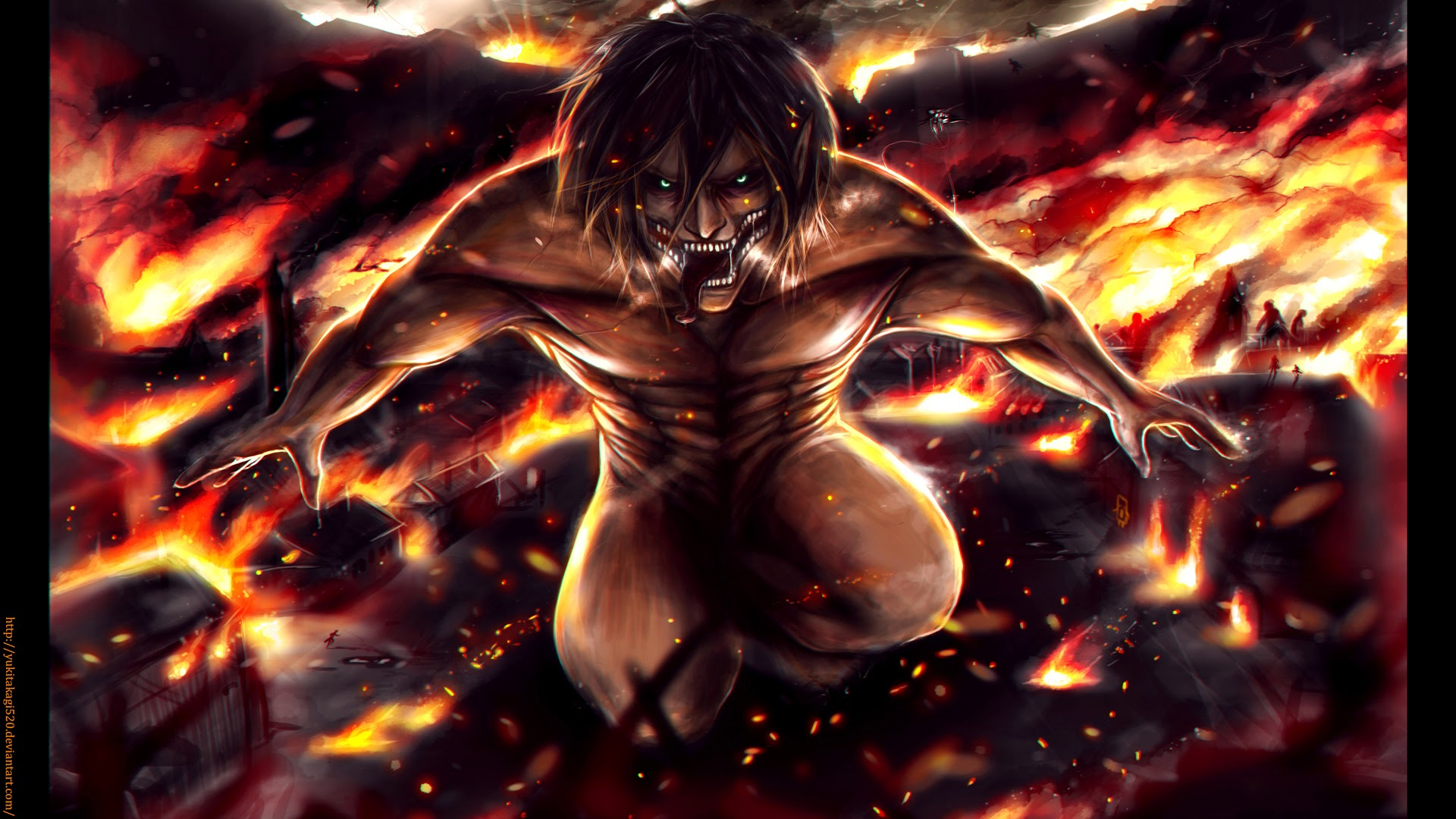 attack on titan eren 13 desktop background animewpcom
