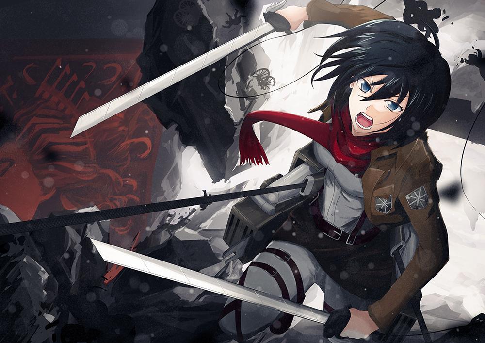 Mikasa Ackerman 17 Background Wallpaper Animewp Com